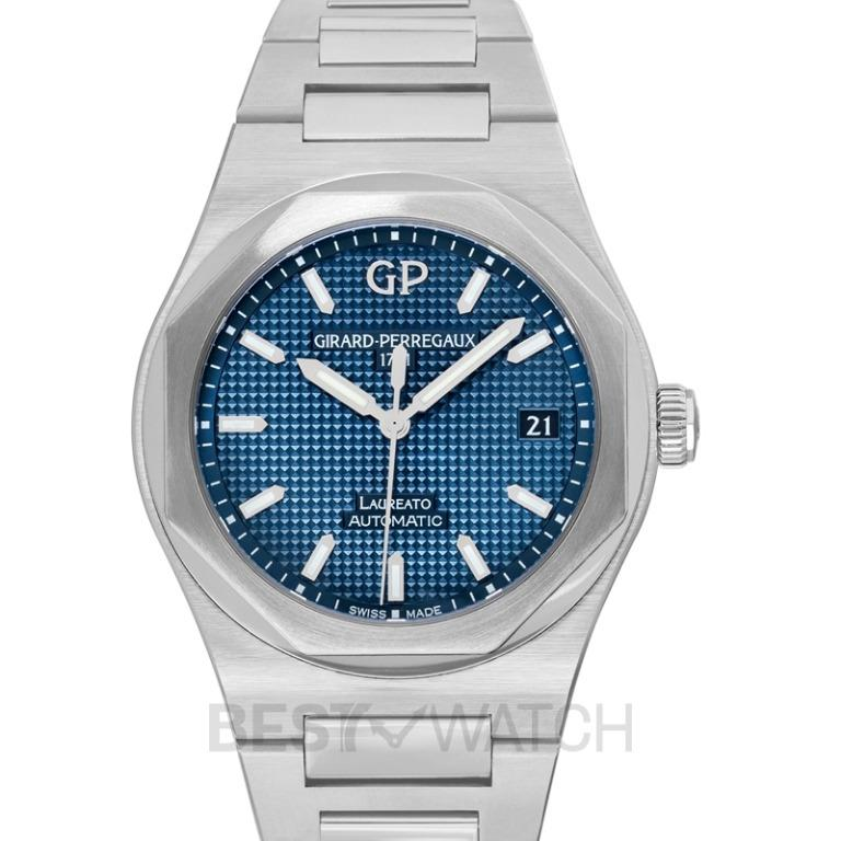 [NEW] Girard-Perregaux Girard-Perregaux Laureato 38 Automatic Stainless Steel  Blue  Alligator Watch 81005-11-431-11A