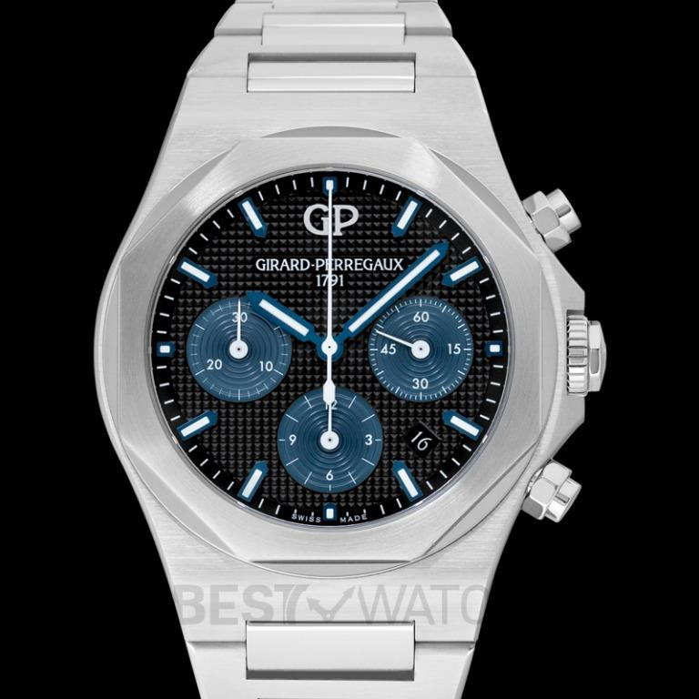 [NEW] Girard-Perregaux Girard-Perregaux Laureato 42 Chronograph Stainless Steel Watch 81020-11-631-11A