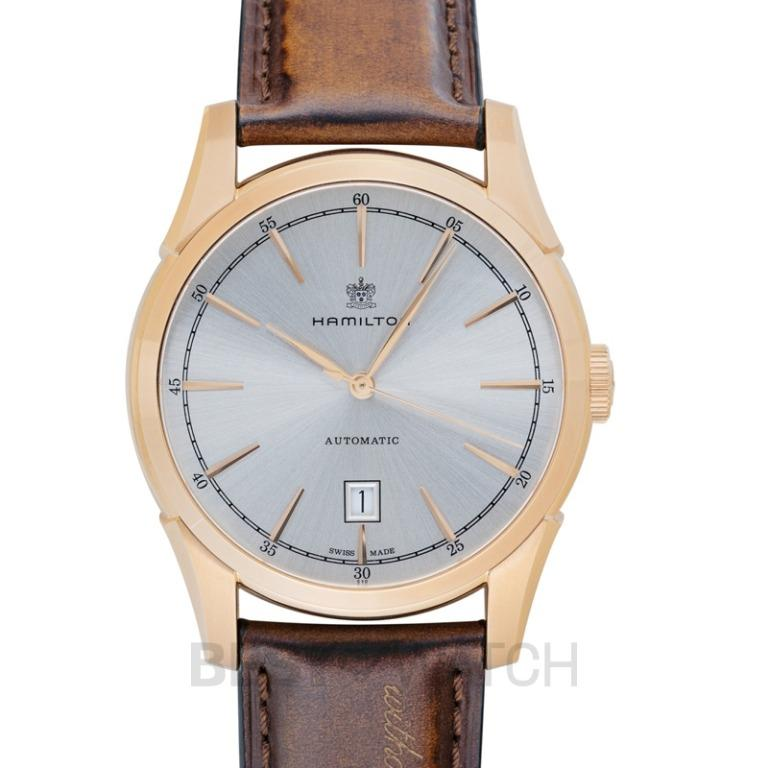 [NEW] Hamilton American Classic Automatic Silver Dial Rose Gold PVD Stainless Steel Men's Watch H42445551