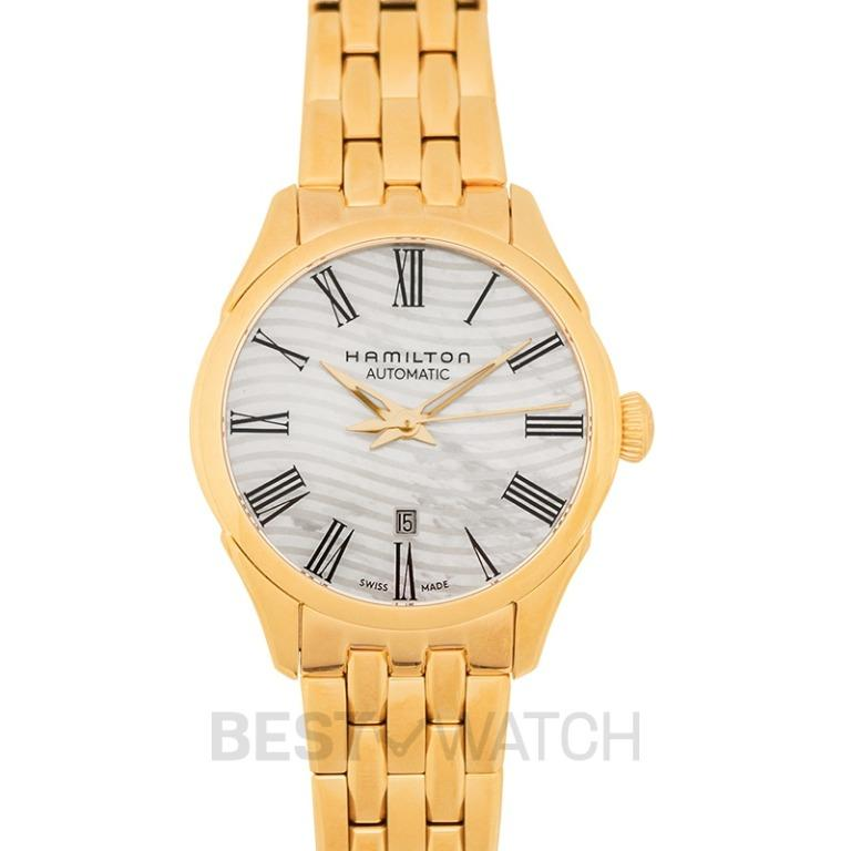 [NEW] Hamilton Jazzmaster Automatic Mother of pearl Dial Stainless steel Ladies Watch H42245191