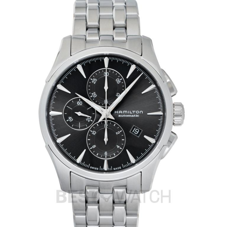 [NEW] Hamilton Jazzmaster Chronograph Automatic Black Dial Stainless Steel Bracelet Men's Watch H32586181