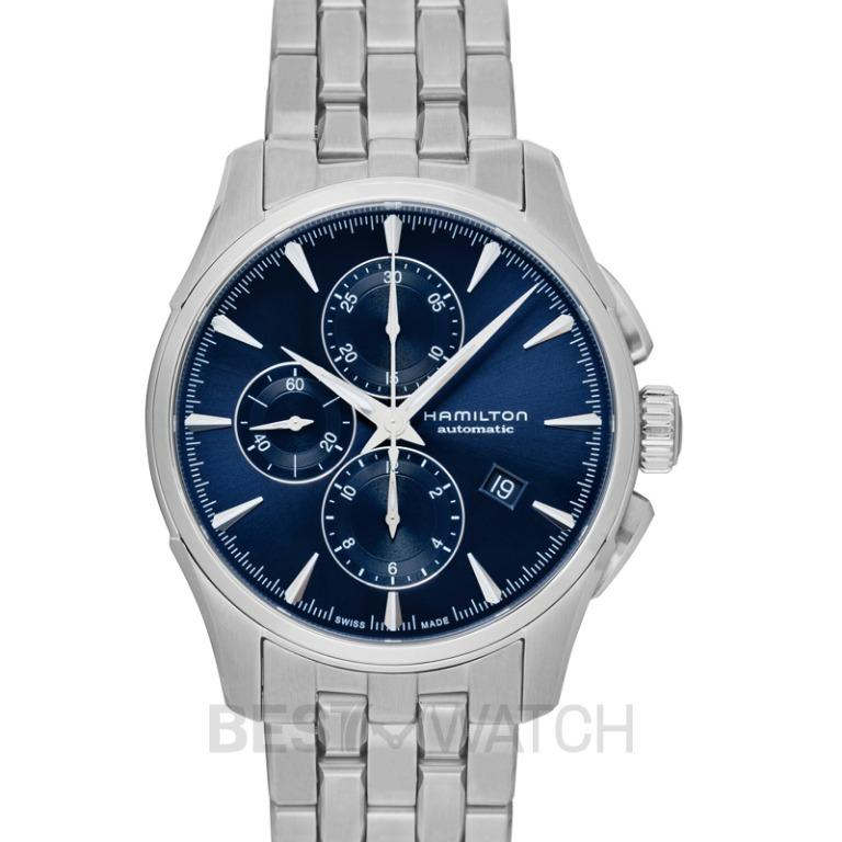 [NEW] Hamilton Jazzmaster Chronograph Automatic Blue Dial Stainless Steel Men's Watch H32586141