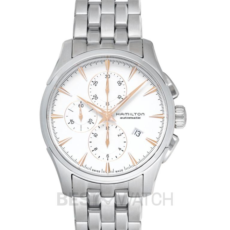 [NEW] Hamilton Jazzmaster Chronograph Automatic Silver Dial Stainless Steel Men's Watch H32586111