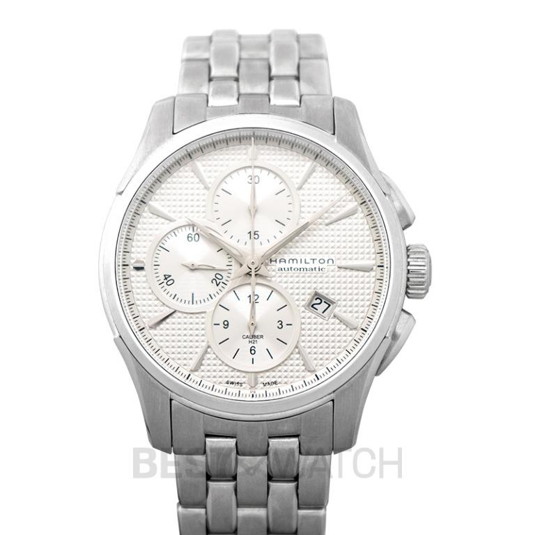 [NEW] Hamilton Jazzmaster Chronograph Automatic Silver Dial Stainless steel Men's Watch H32596151
