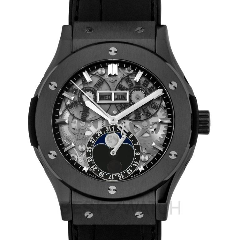 [NEW] Hublot Classic Fusion Aerofusion Moonphase Black Magic Automatic Skeleton Dial Ceramic Men's Watch 517.CX.0170.LR
