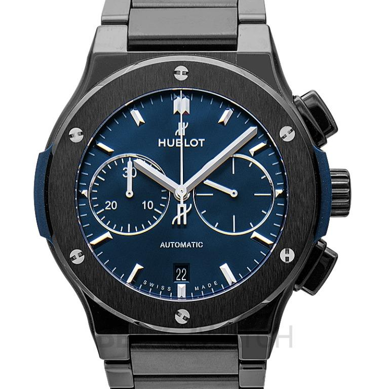 [NEW] Hublot Classic Fusion Chronograph Ceramic Blue Bracelet Automatic Blue Dial Men's Watch 520.CM.7170.CM