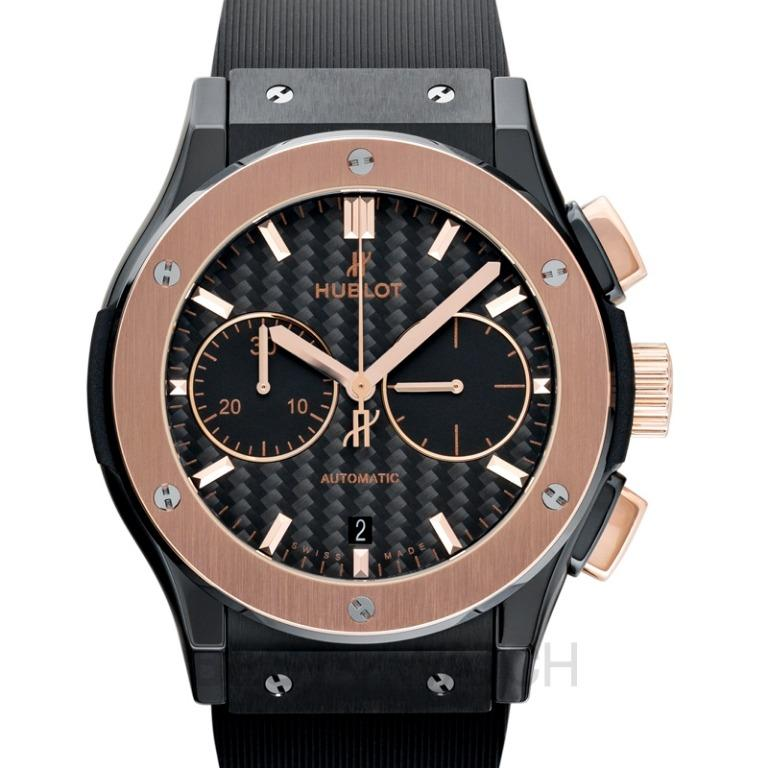 [NEW] Hublot Classic Fusion Chronograph Ceramic King Gold Automatic Black Dial Men's Watch 521.CO.1781.RX