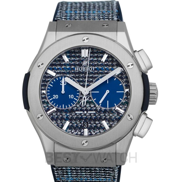 [NEW] Hublot Classic Fusion Chronograph Italia Independent Prince-De-Galles Titanium Automatic Blue Dial Men's Watch 521.NX.2701.NR.ITI17