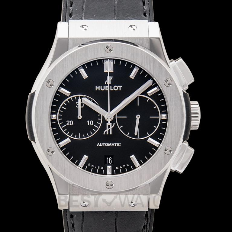 [NEW] Hublot Classic Fusion Chronograph Titanium Automatic Black Dial Men's Watch 521.NX.1171.LR