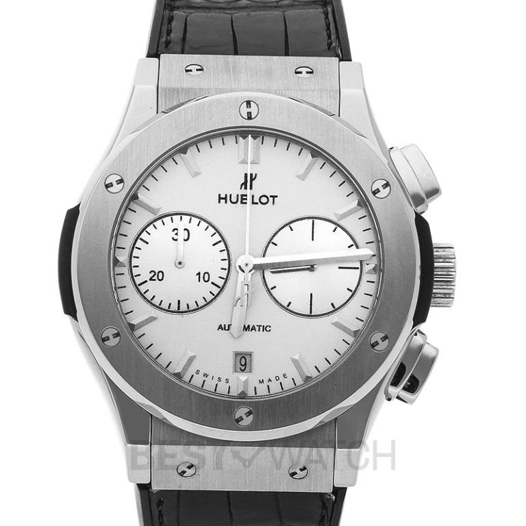 [NEW] Hublot Classic Fusion Chronograph Titanium Opalin Automatic White Dial Men's Watch 521.NX.2611.LR
