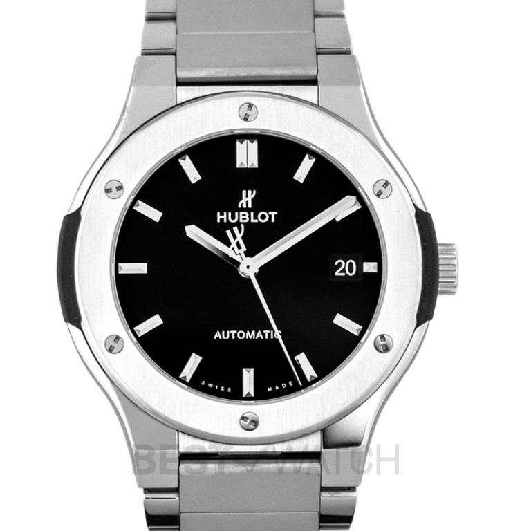 [NEW] Hublot Classic Fusion Titanium Bracelet Automatic Black Dial Men's Watch 510.NX.1170.NX
