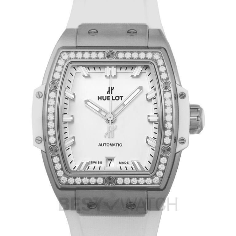 [NEW] Hublot Spirit Of Big Bang Titanium White Diamonds Automatic White Dial Men's Watch 665.NE.2010.RW.1204