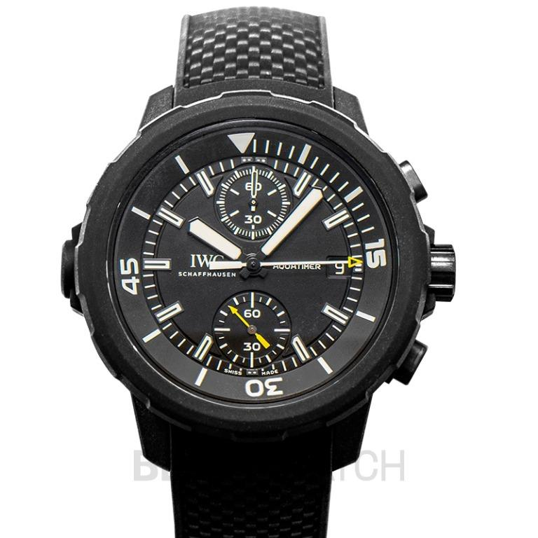 [NEW] IWC Aquatimer Chronograph Edition Galapagos Islands Automatic Black Dial Men's Watch IW379502