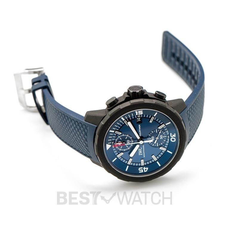 [NEW] IWC Aquatimer Chronograph Edition Laureus Sport For Good Automatic Blue Dial Men's Watch IW379507