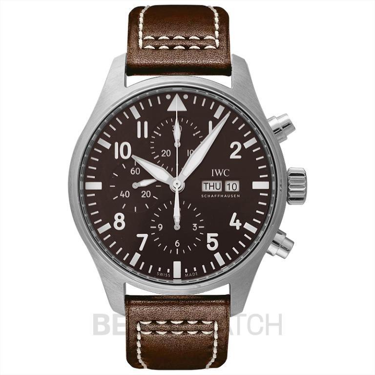 "[NEW] IWC Pilot's Watch Chronograph Edition ""Antoine De Saint Exupéry"" Automatic Brown Dial Men's Watch IW377713"