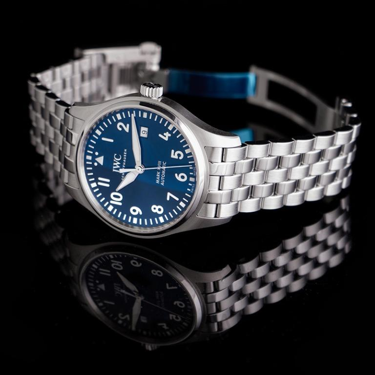 """[NEW] IWC Pilot's Watch Mark XVIII Edition """"Le Petit Prince"""" Automatic Blue Dial Men's Watch IW327016"""