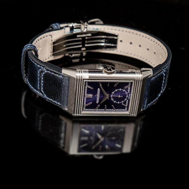 [NEW] Jaeger LeCoultre Reverso Tribute Small Seconds Manual-winding Blue Dial 45.6mm x 27.4mm Men's Watch Q3978480
