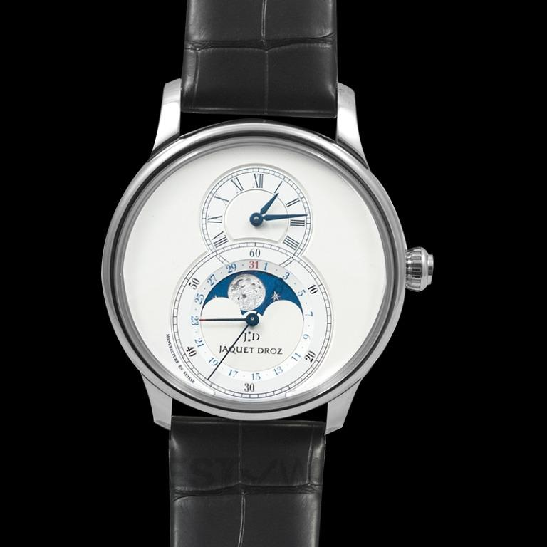 [NEW] Jaquet Droz Grande Seconde Moon Silver 43mm Automatic Silver Dial Men's Watch J007530240