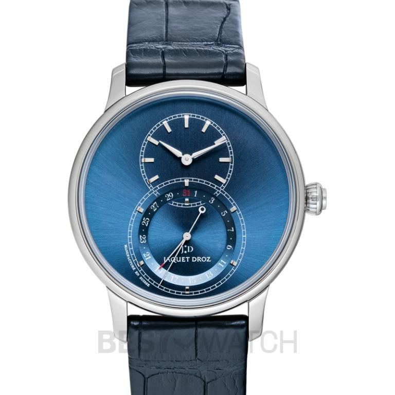 [NEW] Jaquet Droz Grande Seconde Quantieme Satin-Brushed Blue 43mm Automatic Blue Dial Men's Watch J007030249