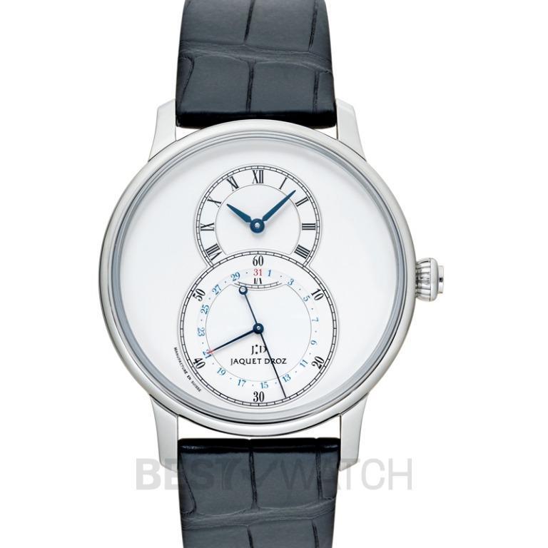 [NEW] Jaquet Droz Grande Seconde Quantieme Automatic Silver Dial Men's Watch J007030242