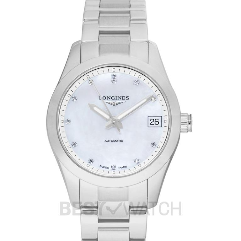 [NEW] Longines Conquest Classic Automatic Mother of Pearl Dial Diamond Ladies Watch L23854876