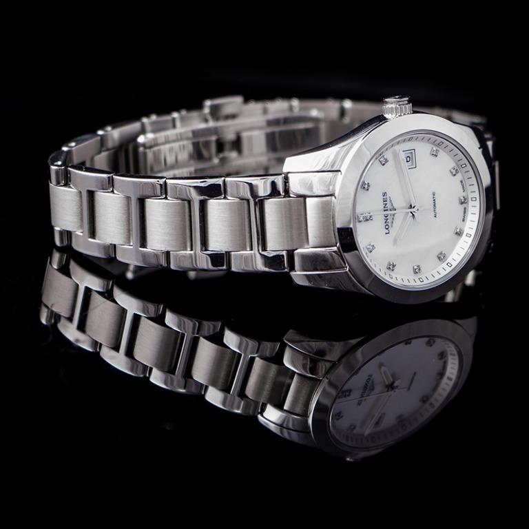 [NEW] Longines Conquest ClassIc Automatic White Mother of Pearl Dial Diamond Ladies Watch L22854876