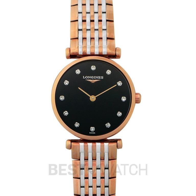 [NEW] Longines La Grande Classique de Longines Quartz Black Dial Diamond Ladies Watch L42091577