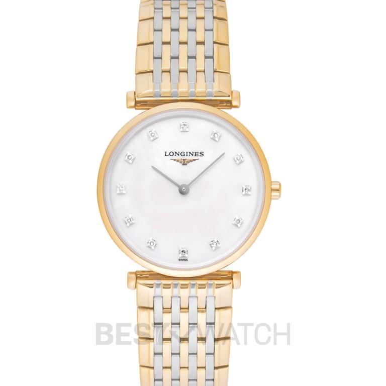 [NEW] Longines La Grande Classique de Longines Quartz White Mother Of Pearl Dial Diamond Ladies Watch L45122877