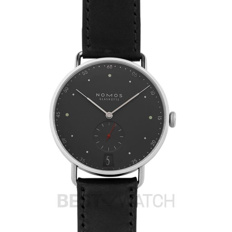 [NEW] Nomos Glashütte Metro 38 Date Urban Gray Manual-winding Green Dial 38.5mm Men's Watch 1103