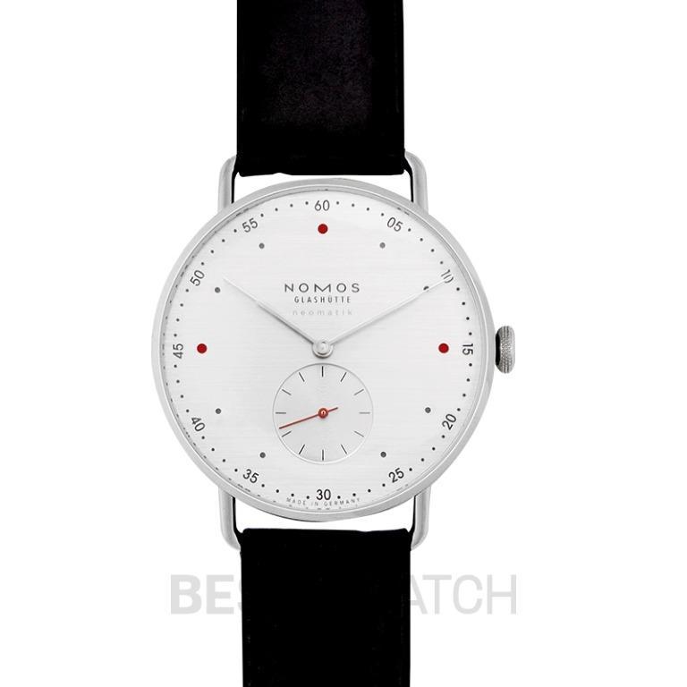 [NEW] Nomos Glashütte Metro Neomatik 39 Silvercut Automatic White Dial 38.5mm Men's Watch 1114