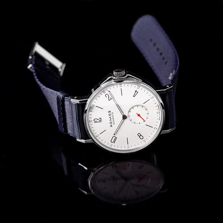 [NEW] Nomos Glashütte Nomos Ahoi White Dial Black Textile Strap Automatic Men's Watch/40MM 550