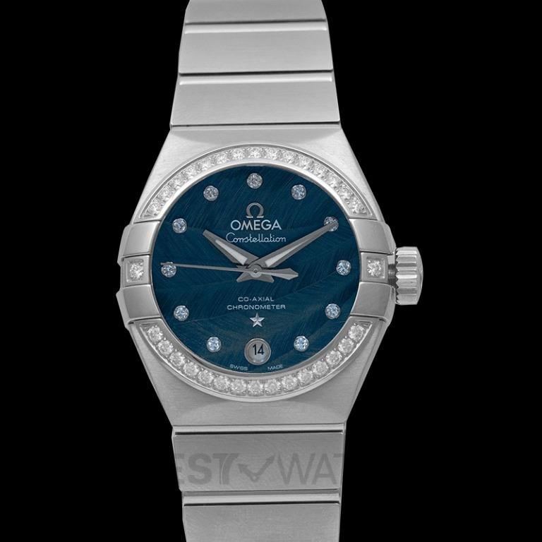 [NEW] Omega Constellation Co-Axial 27mm Automatic Blue Dial Diamonds Ladies Watch 123.15.27.20.53.001