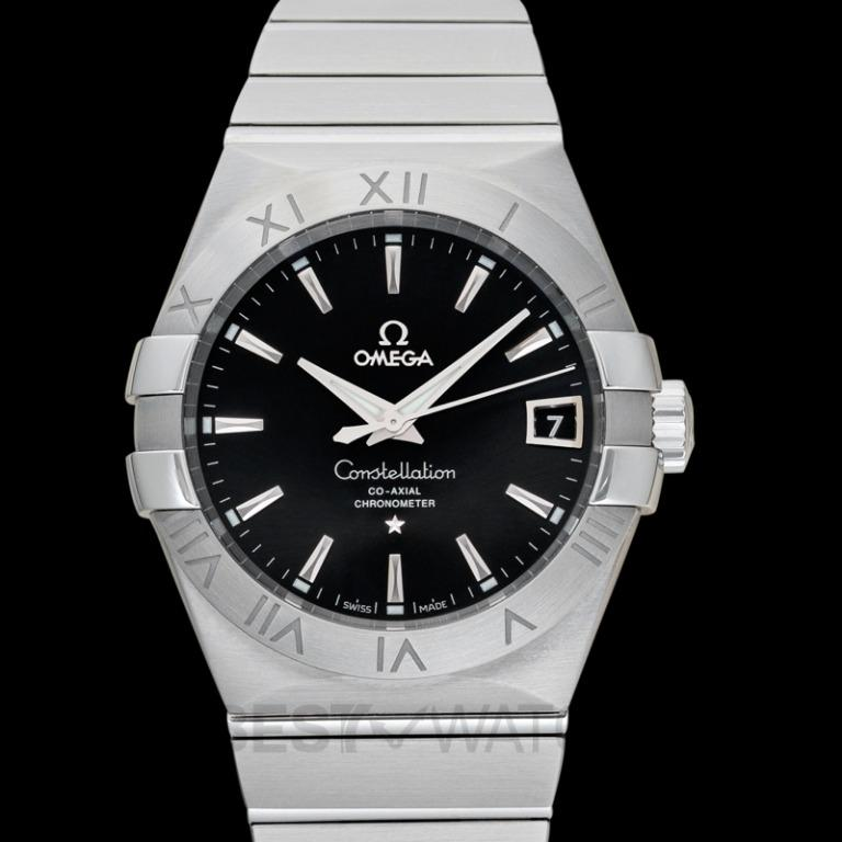 [NEW] Omega Constellation Co‑Axial 38 mm Automatic Black Dial Steel Men's Watch 123.10.38.21.01.001