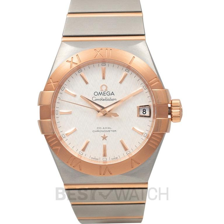 [NEW] Omega Constellation Co‑Axial 38mm Automatic Silver Dial Red Gold Men's Watch 123.20.38.21.02.007