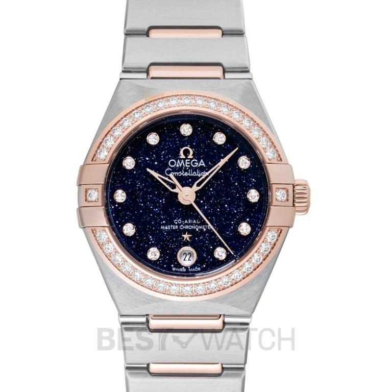 [NEW] Omega Constellation Co-Axial Master Chronometer 29 mm Automatic Blue Dial Diamond Ladies Watch 131.25.29.20.53.002