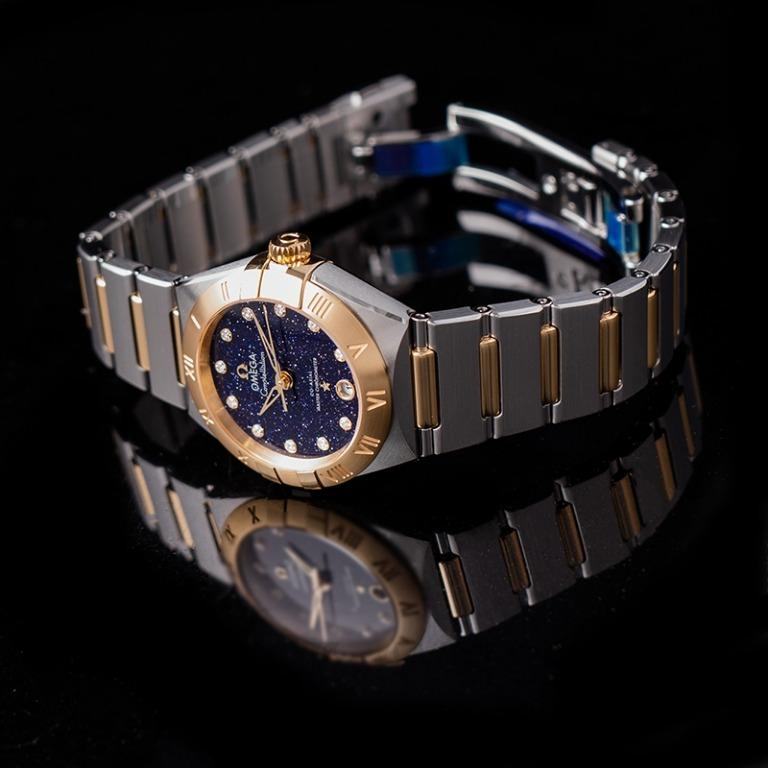 [NEW] Omega Constellation Co‑Axial Master Chronometer 29mm Automatic Blue Dial Diamond Ladies Watch 131.20.29.20.53.001