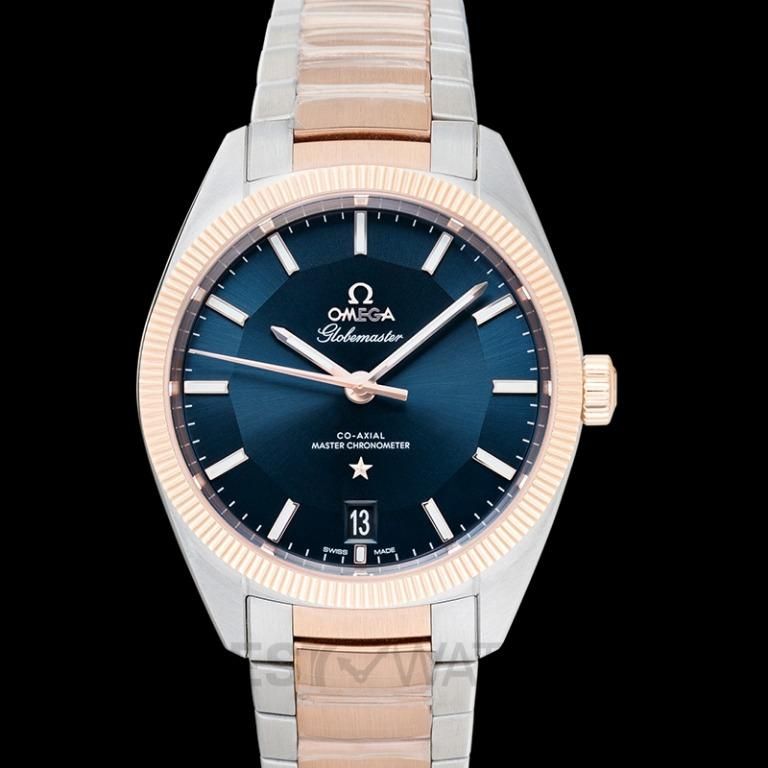 [NEW] Omega Constellation Globemaster Co‑Axial Master Chronometer 39mm Automatic Blue Dial Gold Men's Watch 130.20.39.21.03.001