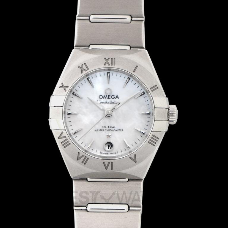 [NEW] Omega Constellation Manhattan Co‑Axial Master Chronometer 29mm Automatic White Mother of Pearl Dial Steel Ladies Watch 131.10.29.20.05.001
