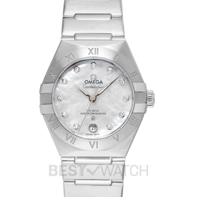 [NEW] Omega Constellation Manhattan Co-Axial Master Chronometer 29mm White Dial Diamonds Ladies Watch 131.10.29.20.55.001