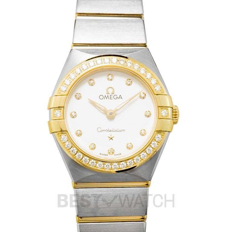 [NEW] Omega Constellation Manhattan Quartz 25mm Quartz Silver Dial Diamonds Yellow Gold Ladies Watch 131.25.25.60.52.002