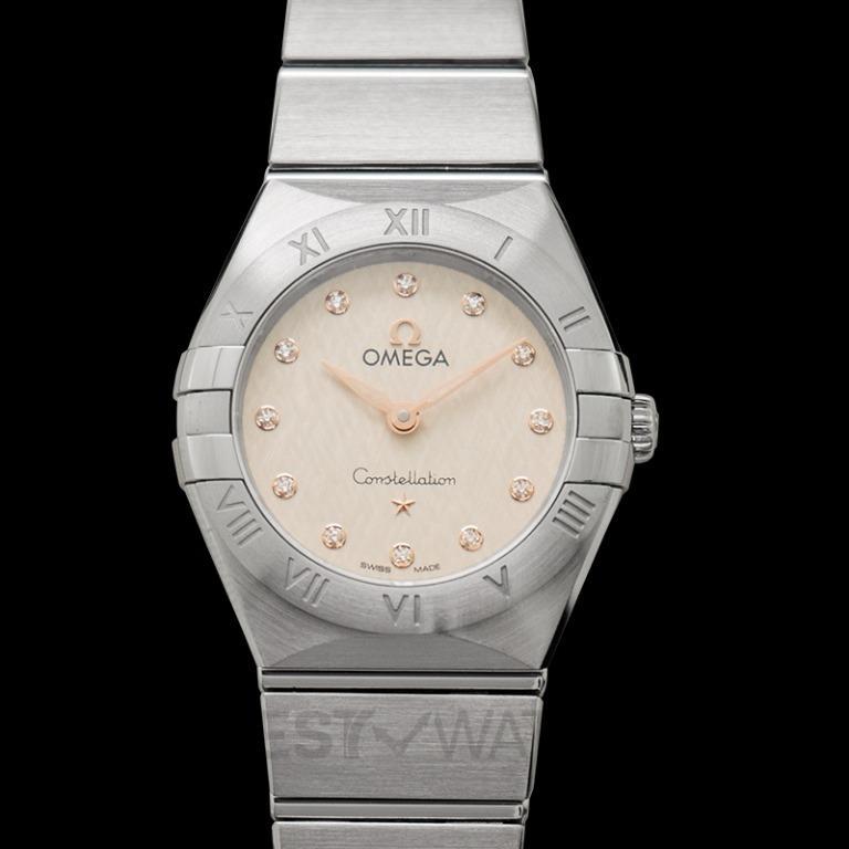 [NEW] Omega Constellation Manhattan Quartz 25mm Quartz Silver Dial Steel Ladies Watch 131.10.25.60.52.001