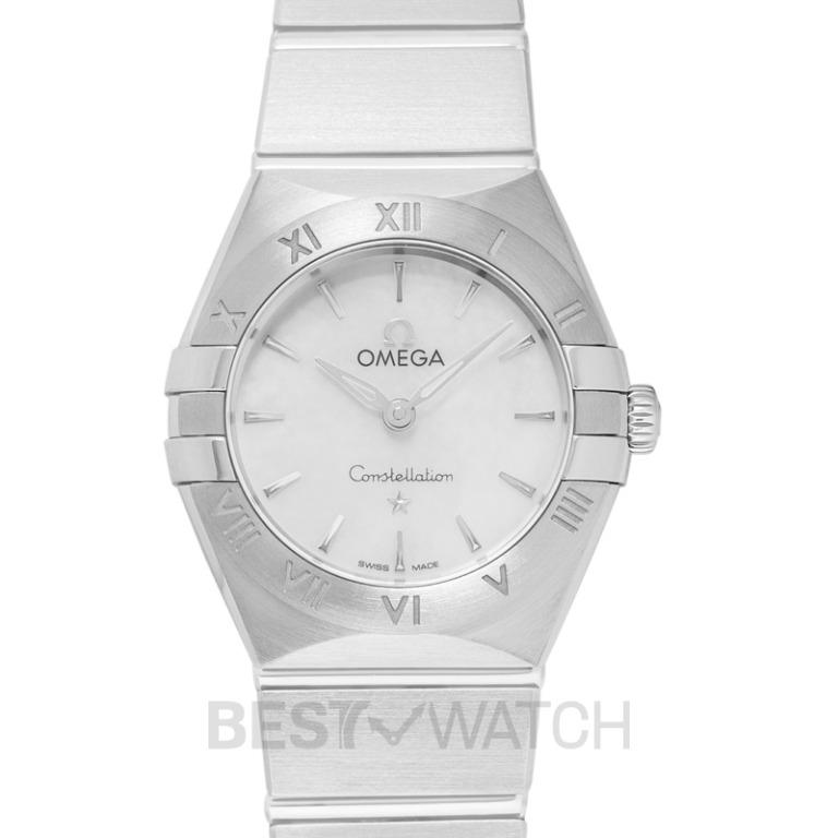 [NEW] Omega Constellation Manhattan Quartz 25 mm Quartz White Mother Of Pearl Dial Steel Ladies Watch 131.10.25.60.05.001