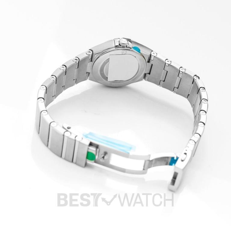 [NEW] Omega Constellation Manhattan Quartz 28mm Quartz Grey Dial Steel Diamond Ladies Watch 131.10.28.60.56.001
