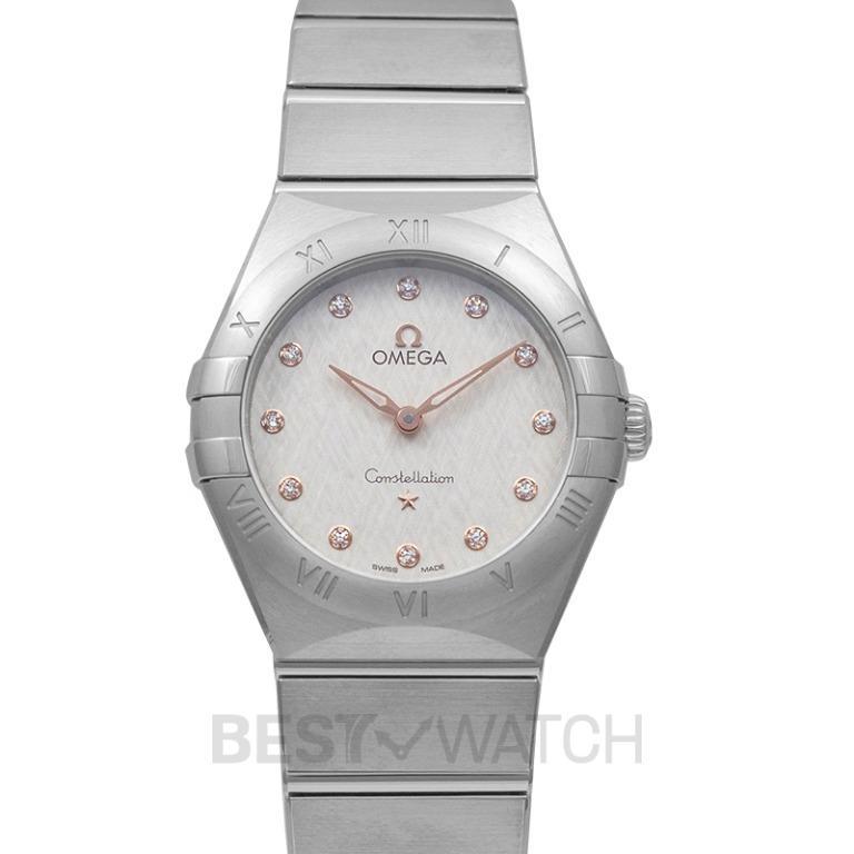 [NEW] Omega Constellation Manhattan Quartz 28mm Quartz Silver Dial Diamonds Ladies Watch 131.10.28.60.52.001