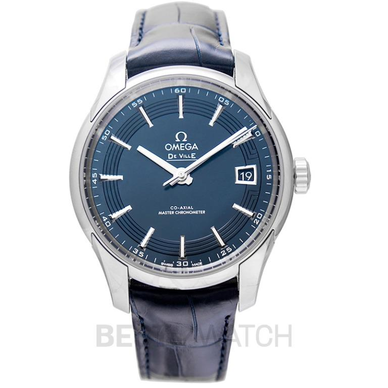 [NEW] Omega De Ville Hour Vision Co-Axial Master Chronometer 41 mm Automatic Blue Dial Steel Men's Watch 433.33.41.21.03.001