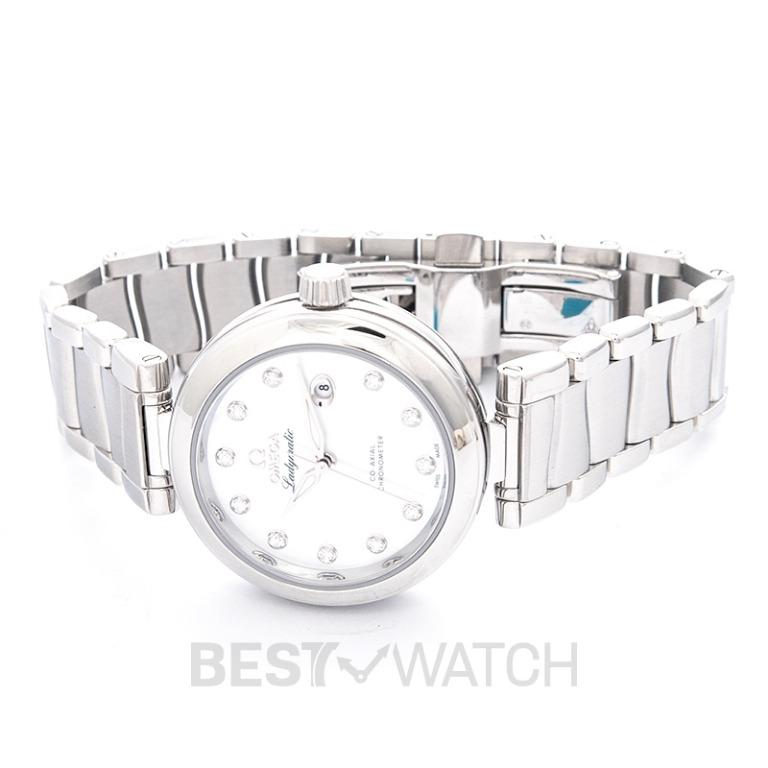 [NEW] Omega De Ville Ladymatic Co-Axial 34 mm Automatic White Dial Diamonds Ladies Watch 425.30.34.20.55.002