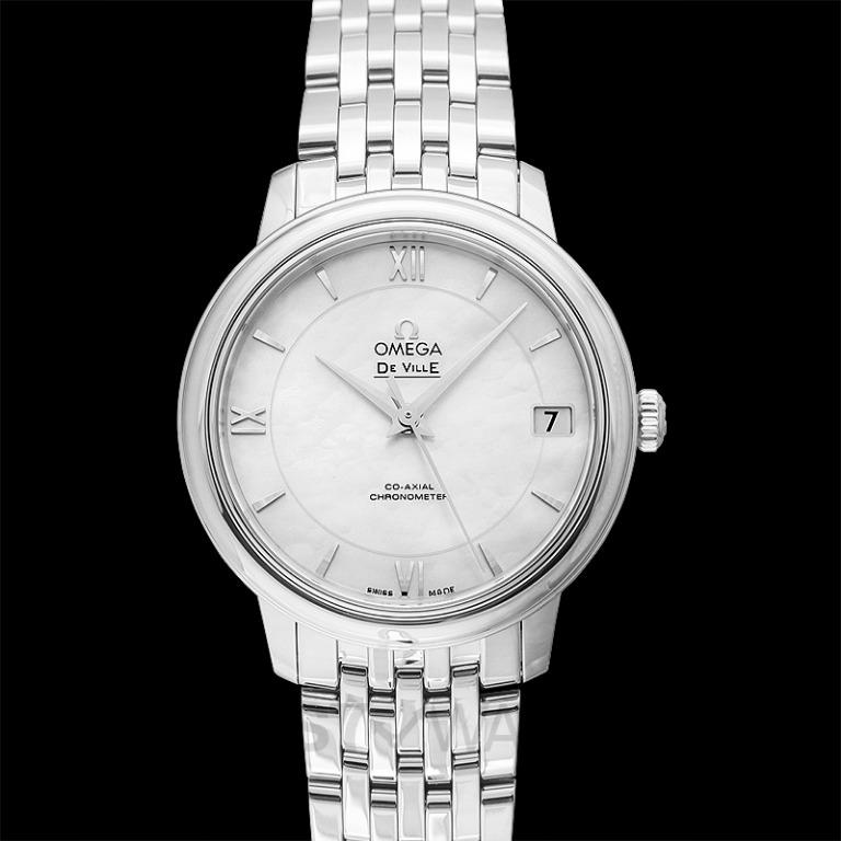 [NEW] Omega De Ville Prestige Co‑Axial 32.7mm Automatic White Dial Steel Ladies Watch 424.10.33.20.05.001