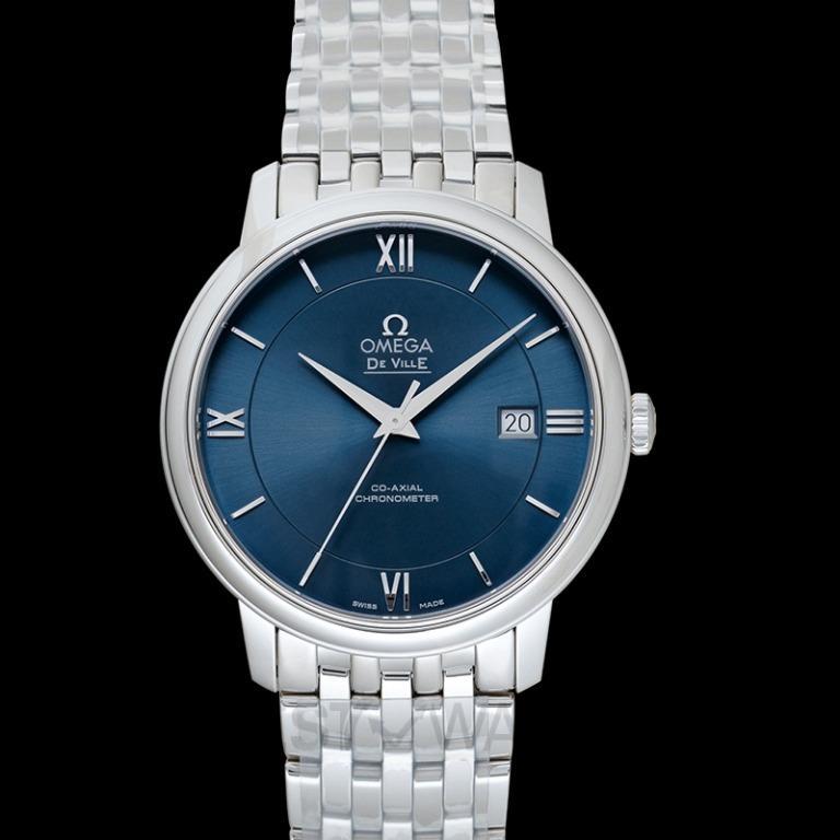 [NEW] Omega De Ville Prestige Co‑Axial 39.5mm Automatic Blue Dial Steel Men's Watch 424.10.40.20.03.001
