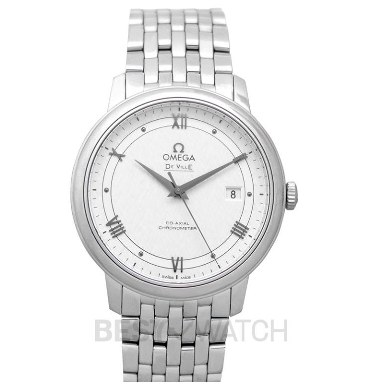 [NEW] Omega De Ville Prestige Co-Axial 39.5 mm Automatic Silver Dial Steel Men's Watch 424.10.40.20.02.005