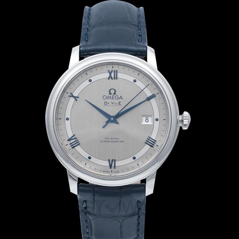 [NEW] Omega De Ville Prestige Co‑Axial 39.5mm Automatic Silver Dial Steel Men's Watch 424.13.40.20.02.003